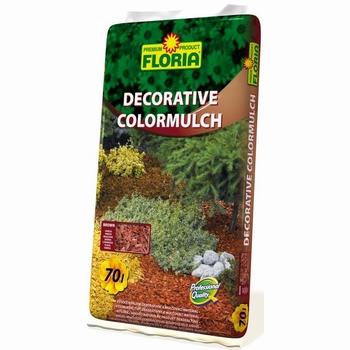 FLORIA dekorativni bojeni malč - 70 L smeđi   kom